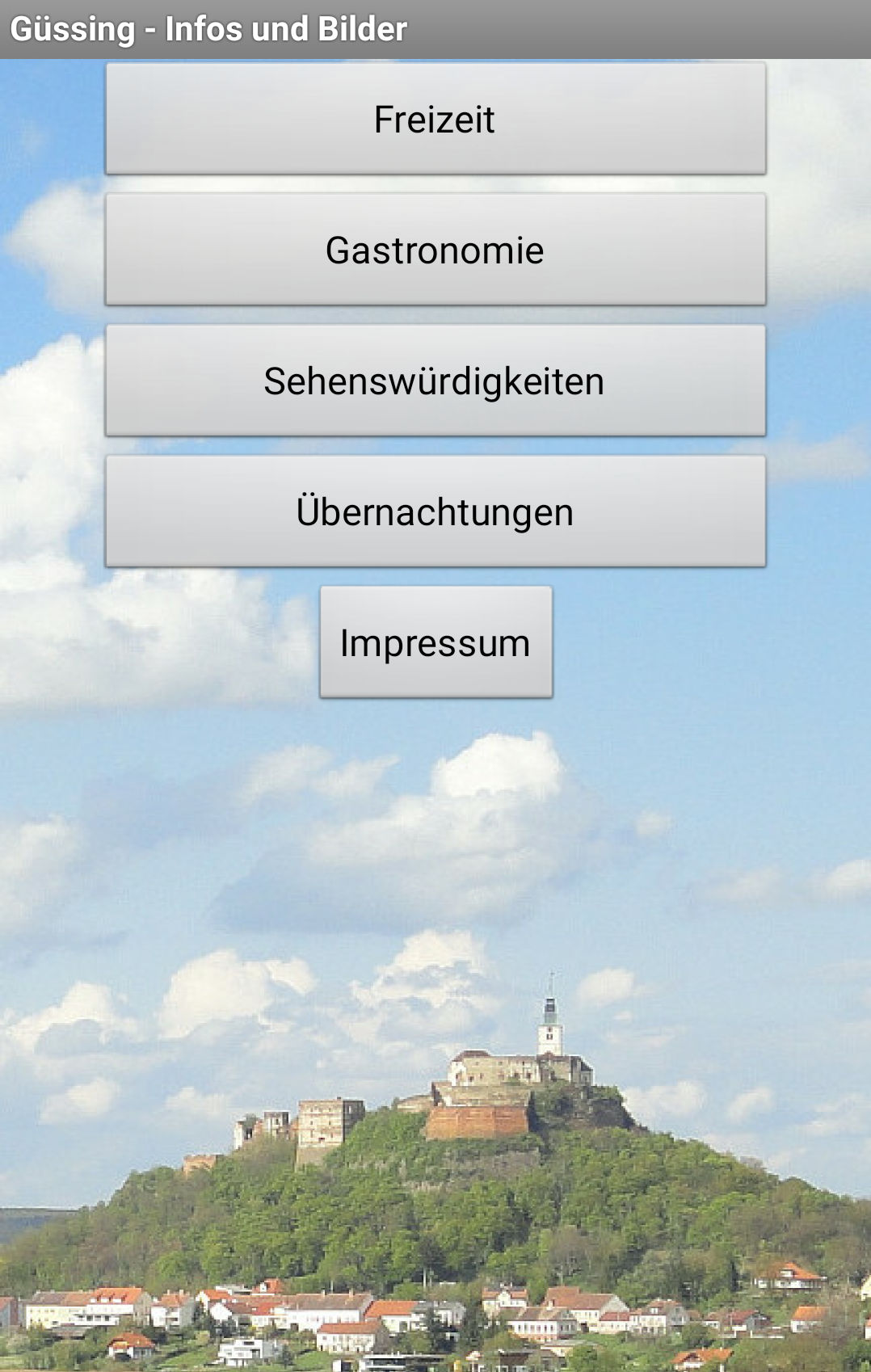 Güssing-App Screenshot